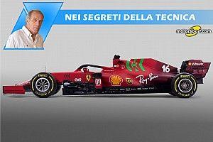 Ferrari SF21: tutto al servizio dell'aerodinamica più spinta