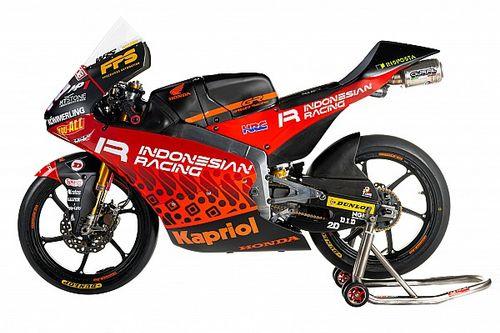 Desainer Helm Rossi Garap Livery Batik Indonesian Racing Gresini Moto3