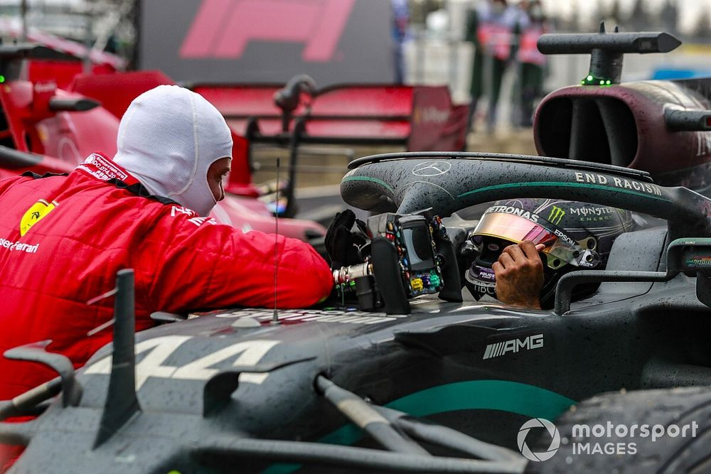 """Vettel told Hamilton it was """"special"""" to see him make history"""