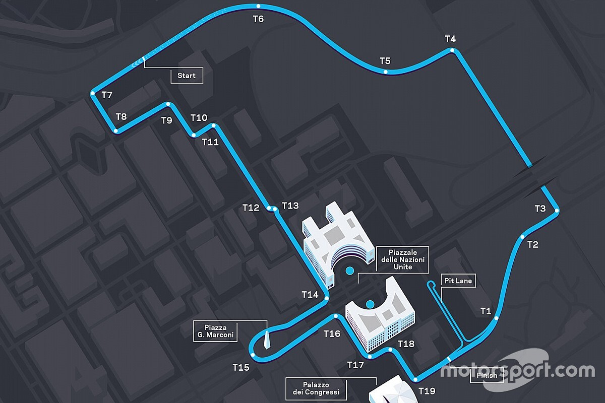 Formula E unveils new track layout for Rome E-Prix
