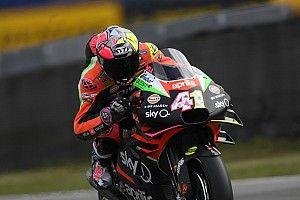Limité par son genou blessé, Aleix Espargaró a pris un nouveau choc
