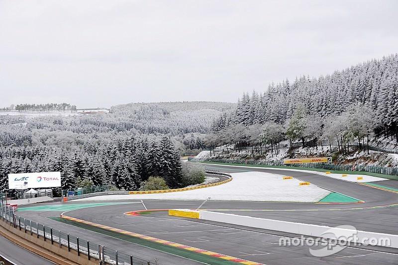 Spa-Francorchamps amanece nevado para las 6 horas del WEC