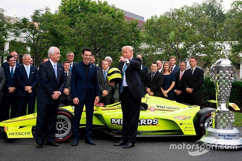El ganador de la Indy500, sorprendido con el conocimiento e interés de Trump