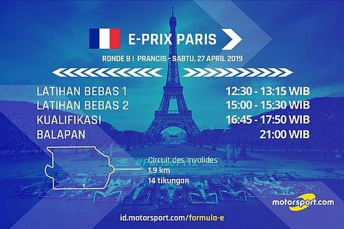 Jadwal Formula E E-Prix Paris