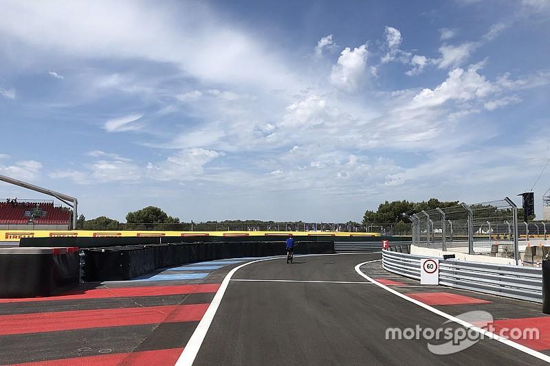 Paul Ricard için pit yolu hız limiti 60 km/s olarak belirlendi, pit girişi değişti