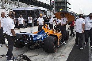 Alonso et McLaren, de mal en... pluie à Indianapolis