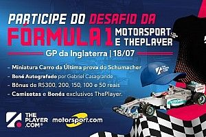 Fantasy ThePlayer Motorsport.com abre mercados para GP da Grã-Bretanha e dá miniatura de carro de Schumacher