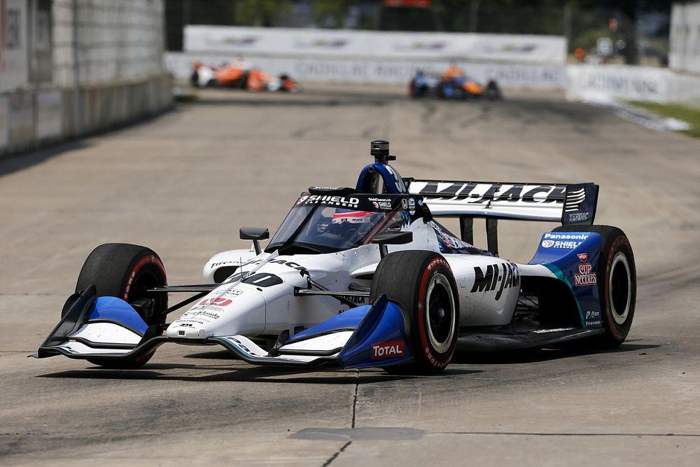 【インディカー】佐藤琢磨、デトロイト・レース1は4位「僕にとってはとてもエキサイティングなレースになった」