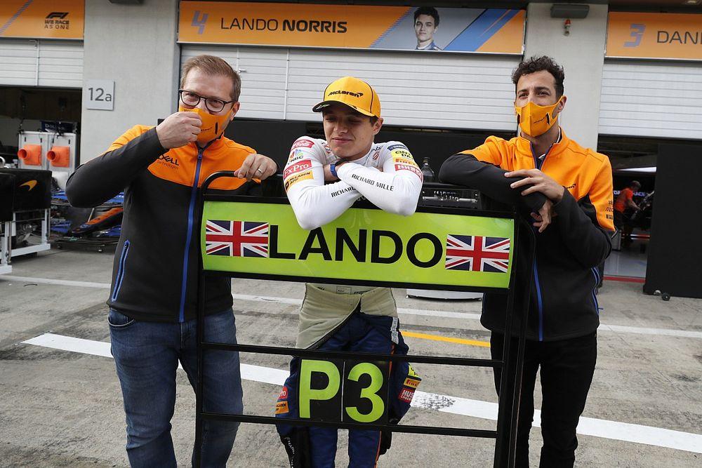 F1: Norris fica sem palavras após elogio de Hamilton na Áustria