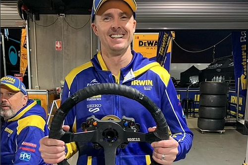 Winterbottom borrowed Triple Eight's 'bus wheel'