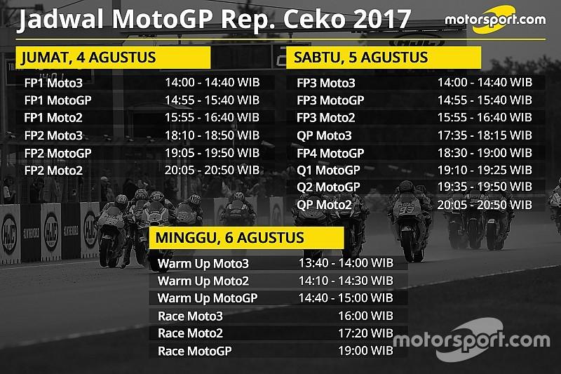 Jadwal lengkap MotoGP Rep. Ceko 2017