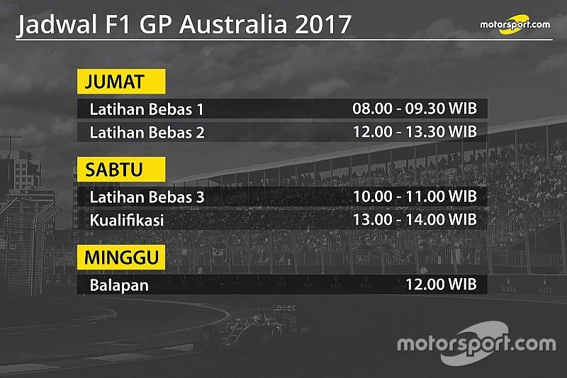 Jadwal lengkap F1 GP Australia 2017