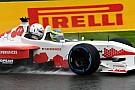 Baumgartner Zsolt az esőben is meghajtotta a kétüléses F1-es gépet