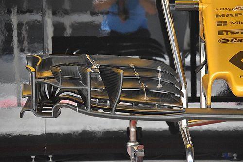Renault: la nuova ala anteriore per aumentare il carico aerodinamico