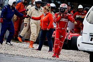 Bottas voando e acidente de Kimi; a quarta-feira em imagens