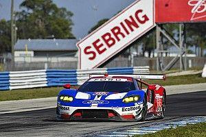 Trois Ford GT au départ des 12 Heures de Sebring