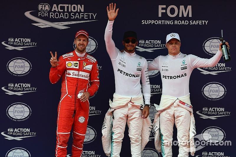 Hamilton derrota Vettel e crava 6ª pole seguida; Massa é 6º