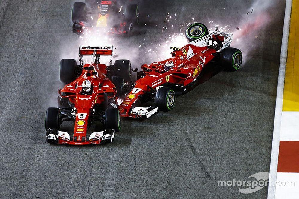 Terugblik: De startcrash van Verstappen en de Ferrari's in Singapore