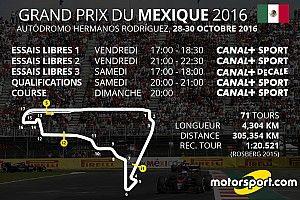 Le programme TV du Grand Prix du Mexique