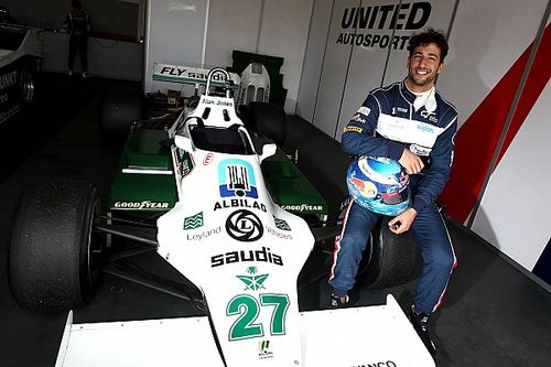 Ricciardo's smile returns after blast in title-winning Williams F1 car