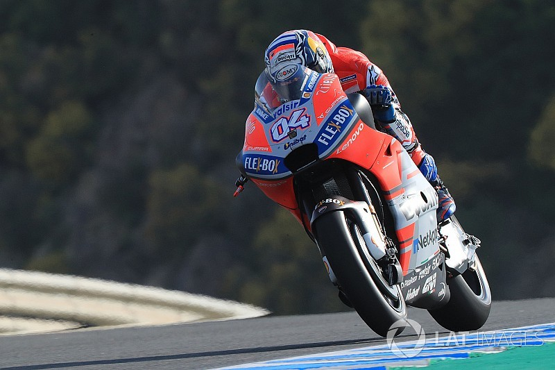 Dovizioso domina un primer ensayo en Jerez plagado de sorpresas