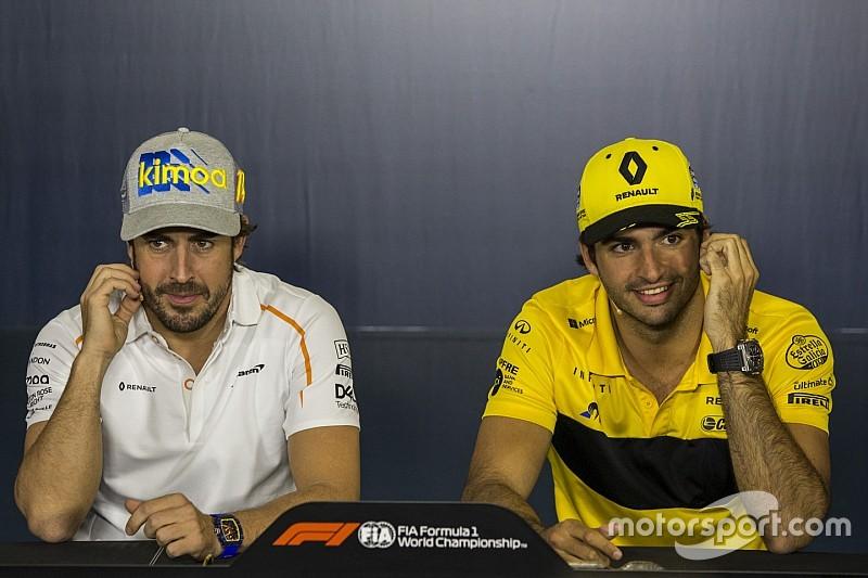 """Sainz: """"Gevechten met Alonso op de baan voelen als titelstrijd"""""""