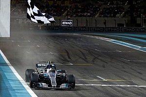 Bottas wint seizoensafsluiter in Abu Dhabi, Verstappen besluit 2017 met vijfde plek