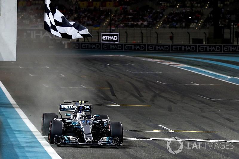 Abu Dhabi GP: Bottas fends off Hamilton to win finale