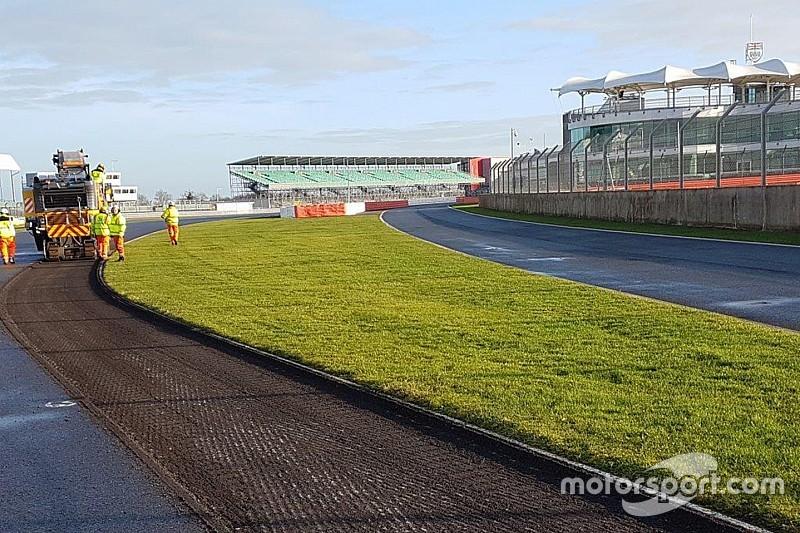 Silverstone pisti yeniden asfaltlanacak