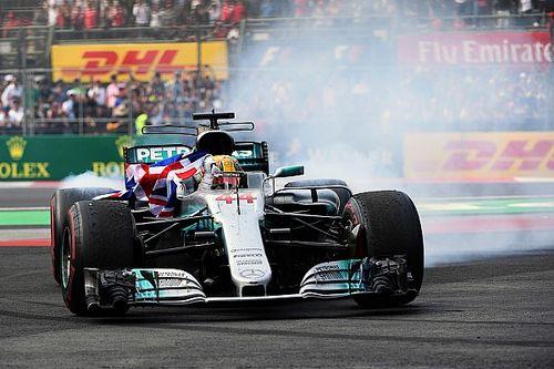 Gallery: Hamilton celebrates fourth F1 title in Mexico