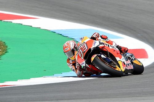 FP4 MotoGP Belanda: Marquez tercepat, Rossi terjatuh