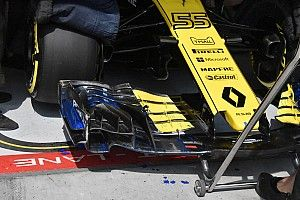 Magyar Nagydíj: betét a Renault szárnyán és eltérő fékhűtések a pitben