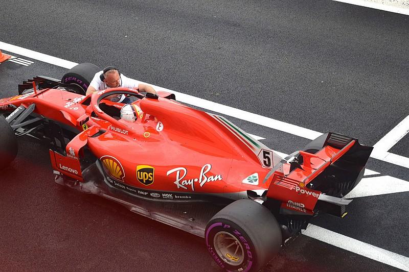 Ferrari: la FIA ha fatto a Vettel un test di visibilità posteriore con gli specchietti della SF71H