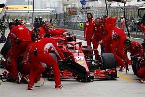 F1ピットストップ時の手順変更を検討。ふたつのセンサーを使用