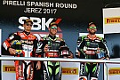 WSBK Rea gana en Jerez una carrera que tuvo en la mano Melandri hasta que rompió