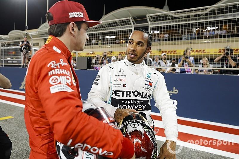 Hamilton se impressiona com ritmo das Ferraris no Bahrein: 'Incrível'
