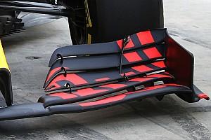Red Bull Racing test nieuw concept van voorvleugel