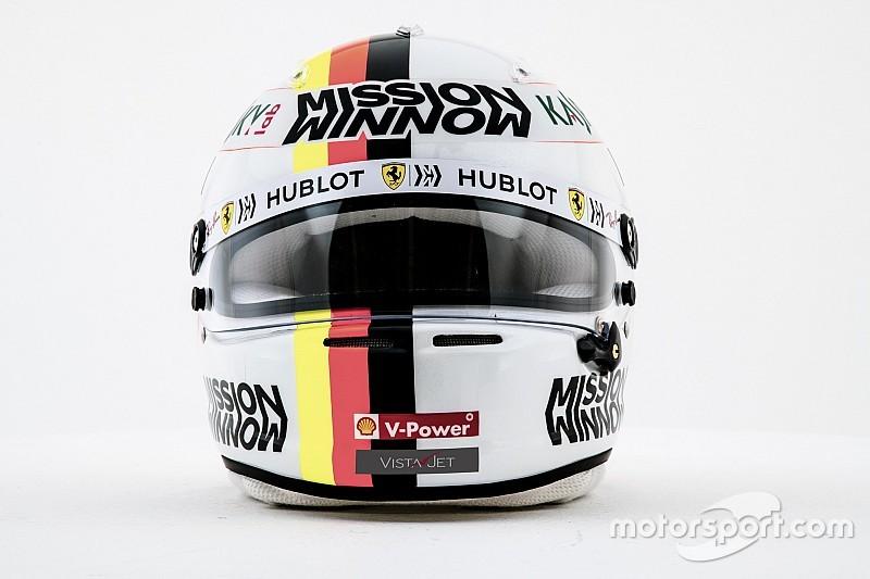 Photos - Les casques de Vettel et Leclerc chez Ferrari