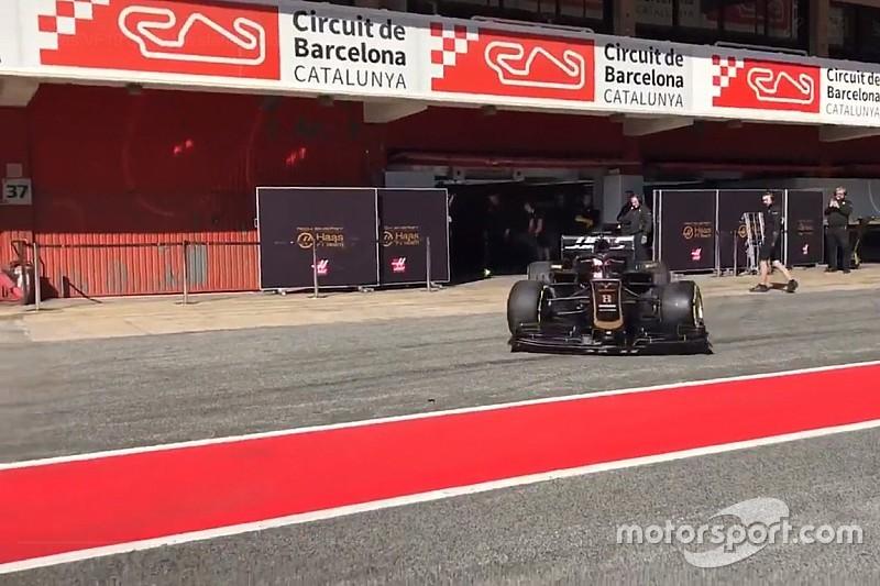 Pályára gurult a Haas 2019-es F1-es gépe Barcelonában: videó