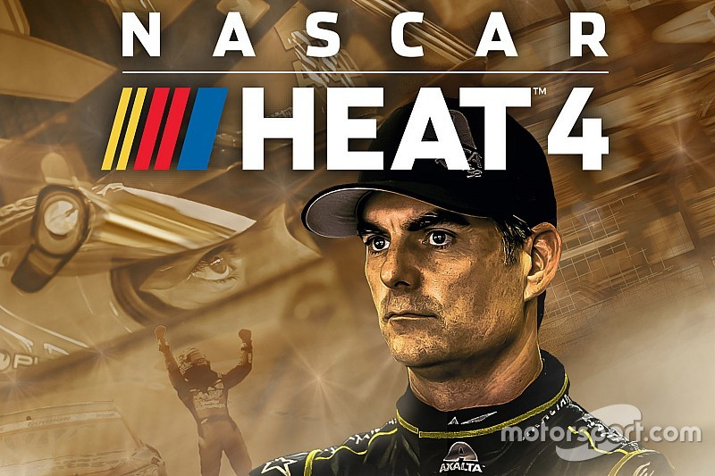 Jeff Gordon featured on NASCAR Heat 4 Gold Edition cover