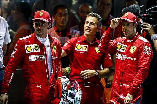 """Leclerc, frustrado por una """"injusta"""" derrota ante Vettel"""