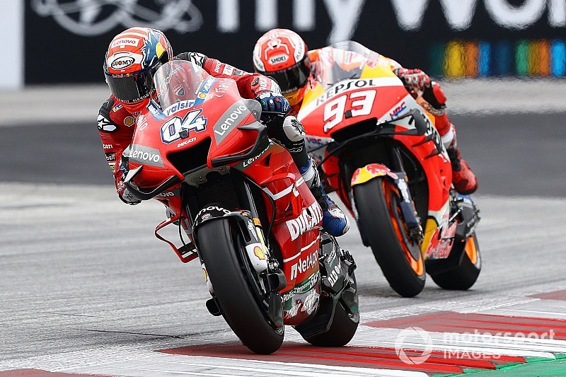 "Dovizioso ""didn't prepare"" for last-turn lunge on Marquez"