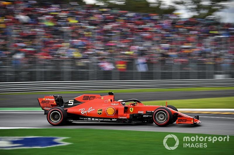 Vettel topt ingekorte derde training Italië, Verstappen naar P2