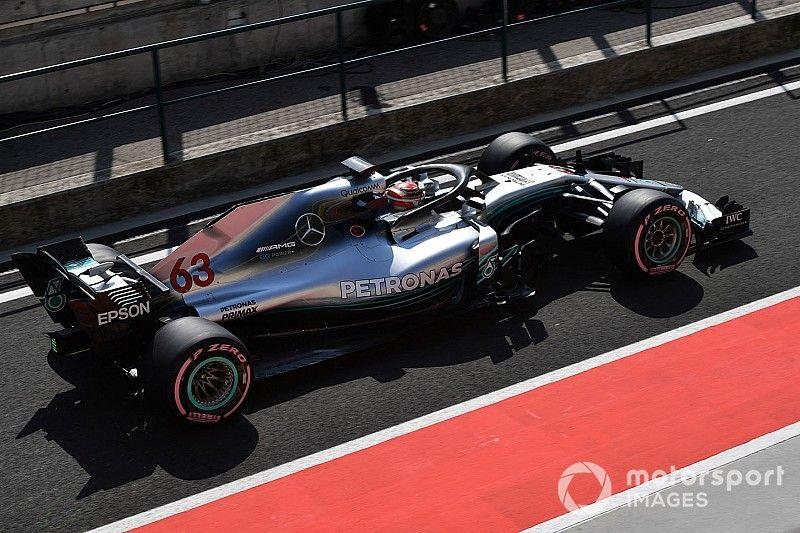 Расселл стал лучшим во второй день тестов Ф1 в Бахрейне. За рулем Mercedes