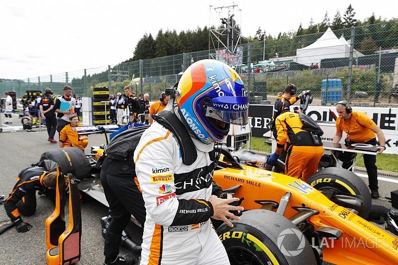 El accidente de Spa provocó dolores de espalda a Alonso dos días después