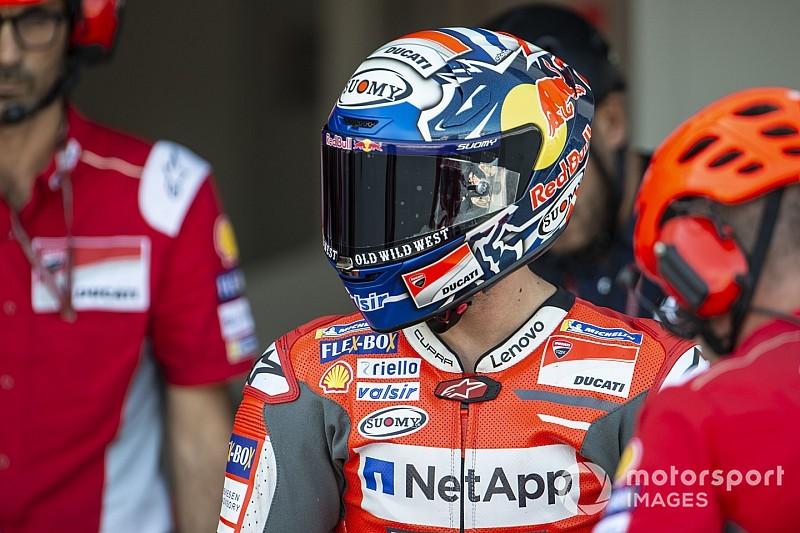 Dovizioso opent met snelste tijd in training Japanse GP, Lorenzo trekt zich terug