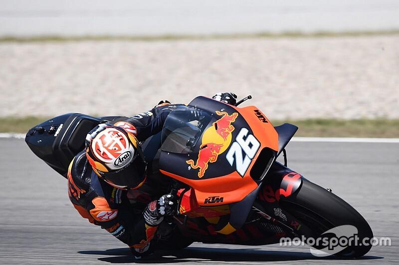 Las primeras fotos de Dani Pedrosa con KTM en Barcelona