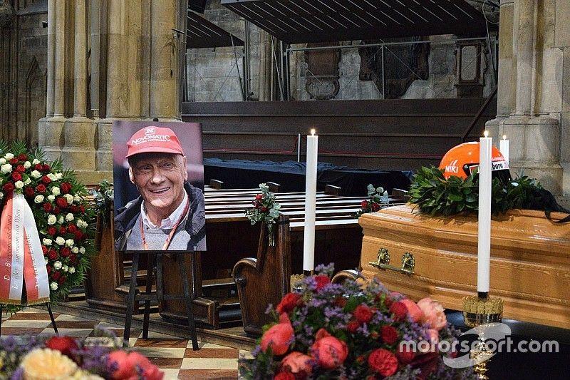 Grandes nombres de la F1 despiden a Niki Lauda en su funeral