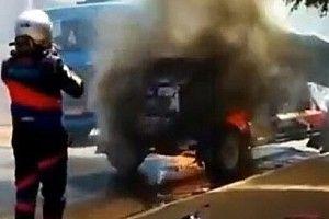 Sertões – VÍDEO: Carro pega fogo e pilotos vivem drama para conter chamas