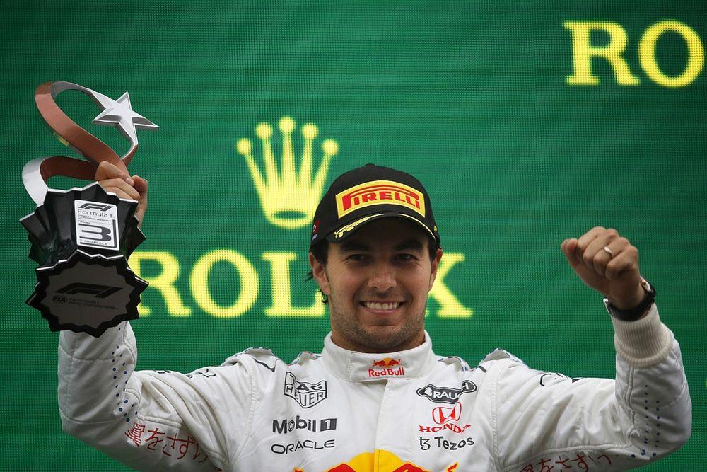 """Pérez, aliviado con su podio en Turquía: """"Lo necesitaba"""""""